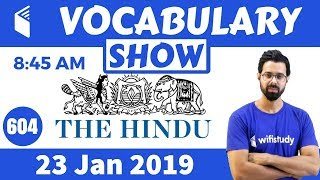 Download 8:45 AM - Daily The Hindu Vocabulary with Tricks (23 Jan, 2019) | Day #604 Video