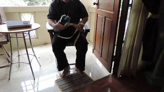 Download Putting on my socks without a sock pull device Video