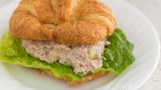 Download I Can't Believe I Made This Tuna Salad Sandwich Croissant - sooo awesomely simple Video
