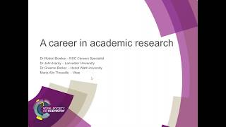 Download ChemCareers 2017 A career in Academic Research Video