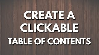 Download Create a Clickable Table of Contents in Microsoft Word Video