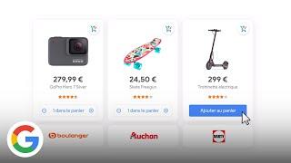 Download Regroupez tous vos achats dans un seul panier et achetez directement sur Google - Google France Video