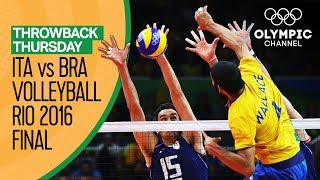 Download Italy vs Brazil – Men's Volleyball Gold Medal Match at Rio 2016 | Throwback Thursday Video