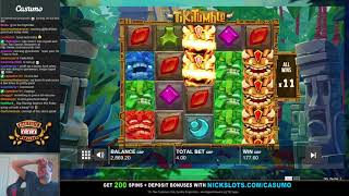 Download BIG WIN on Tiki Tumble Slot - £4 Bet Video