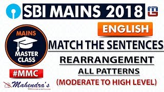 Download Rearrangement | Match the Sentences | #MMC | SBI MAINS 2018 | English | Live at 9 am Video