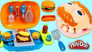 Download Feeding Play Doh Drill N Fill BBQ Barbecue Playset and Toy Velcro Cutting Fruit & Toy Microwave! Video