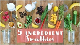 Download 5 Healthy Smoothie Recipes   Healthy Breakfast Ideas Video
