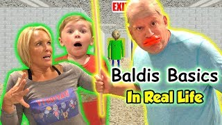 Download Baldi's Basics Game in Real Life! Does Baldi Get Us? | DavidsTV Video