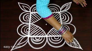 Latest Padi Kolam Designs With 5x5 Dots Geethala Muggulu Easy