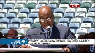 Download President Zuma addresses Twelve Apostles Church in Christ members Video