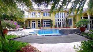 Download Prestigious Waterfront Home in Weston, Florida Video