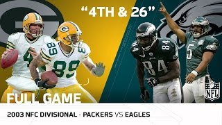 Download Packers vs. Eagles 2003 NFC Divisional Playoffs | ″The 4th-and-26 Game″ | NFL Full Game Video