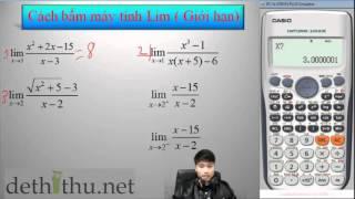 Download Bấm máy tính Casio tìm Lim (Giới hạn) | Tính Lim bằng máy tính Casio | Thầy Nguyễn Quốc Chí Video