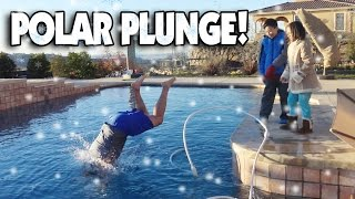 Download POLAR PLUNGE!!! Dad Jumps Into Freezing Ice Pool! Video