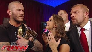 Download The Authority does not budge in making new WWE World Heavyweight Champion Randy Orton compete: Raw, Video