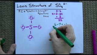 Download Lewis Structure of SO4(2-) (Sulfate) CORRECT Video