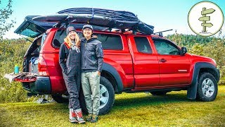 Download Extreme Minimalists Living Full-Time in a Pickup Truck Camper Video