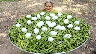 Download Fresho Beans with Egg Recipe in Village Style By My Grandma || Myna Street Food Video
