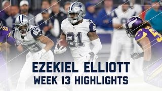 Download Ezekiel Elliott Pounds for 86 Rush Yards & 1 TD! NFL Week 13 Player Highlights Video
