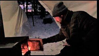 Download Winter Camping in the Atuk Kanguk Hot Tent Video