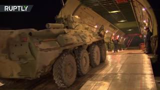 Download Russian bomb disposal unit departs for Aleppo on de-mining mission Video