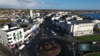Download Galway city & Salthill aerial stock footage Video