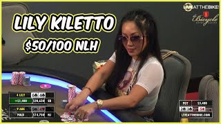 Download Lily Kiletto Plays High Stakes $50/100 NLH! (Full Episode) ♠ Live at the Bike! Video