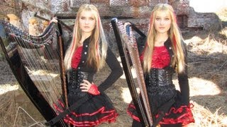 Download IRON MAIDEN - Fear of the Dark - Harp Twins (Camille and Kennerly) HARP METAL Video