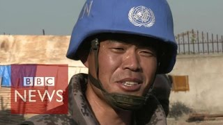 Download On patrol with China's first UN peacekeepers - BBC News Video