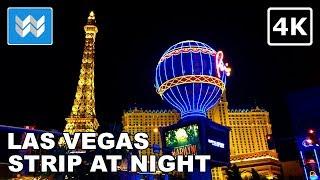 Download Las Vegas Strip at Night - 2 Hour Virtual Walking Tour 2018 Travel Guide 【4K】 Video