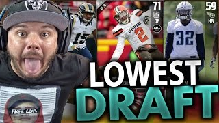 Download LOWEST OVERALL DRAFT - MADDEN 17 DRAFT CHAMPIONS Video