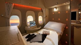 Download Emirates B777 PHENOMENAL new First Class Suite: a review Video