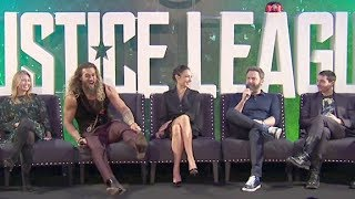 Download Justice League PRESS CONFERENCE - Gal Gadot, Ben Affleck, Henry Cavill, Jason Momoa Video