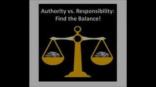 Download Authority vs Responsibility: Find the Balance! Video