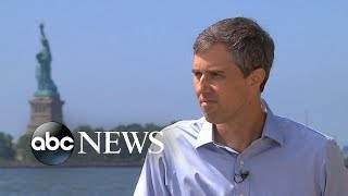 Download Beto O'Rourke visits historic Ellis Island for 1st time | ABC News Video