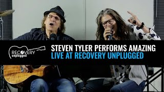 Download Steven Tyler performs ″Amazing″ at Recovery Unplugged drug rehab Video