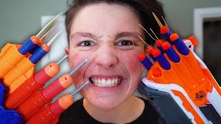 Download MOST DANGEROUS TOY OF ALL TIME!!! *BLOOD WARNING* (EXTREME NERF GUN CHALLENGE) Video