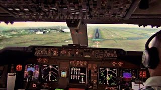 Download Sunset Landing Nairobi - KLM Boeing 747-400F Cockpit View Video