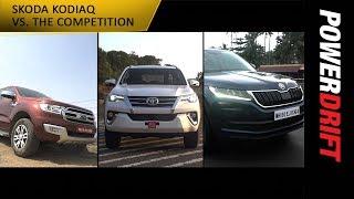 Download Skoda Kodiaq vs Ford Endeavour vs Toyota Fortuner : PowerDrift Video