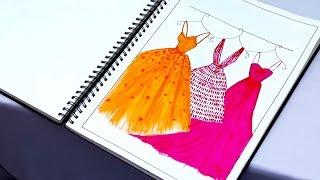 Download My Fashion Project | Fashion Illustrations | Application of Design | Kiran Saro Video