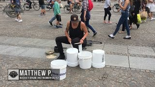 Download Matthew Pretty - The Bucket Boy From Las Vegas Performing At The Dam Square In Amsterdam 2017! Video