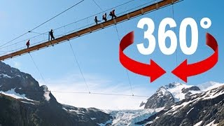 Download 360° walk   «Trift» suspension bridge   Swiss Alps Video