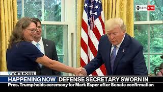 Download Trump's defense secretary pick Mark Esper swearing-in ceremony | ABC News Video