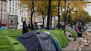 Download Migrant camps emerge in Paris after Calais 'Jungle' dismantled Video
