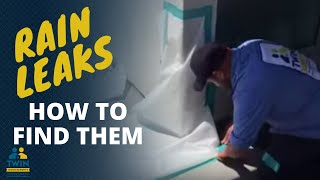 Download How to find a water leak in a wall or rain water leaking into your house Video