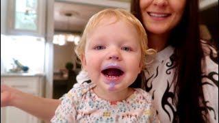 Download baby's reaction to palabok + ube ice cream :: filipino food taste test Video