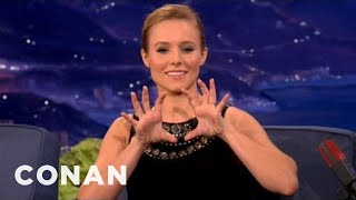 Download Kristen Bell Likes Her Own Butt - CONAN on TBS Video