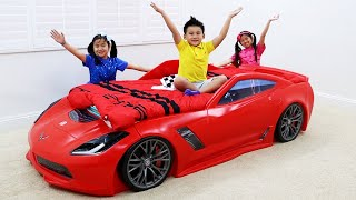 Download Jannie and Emma Pretend Play New Cars Room Video