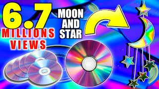 Download How to make MOON🌙 and STAR⭐ Waste CD    Room Decor    Part -1   Art Ideas Video