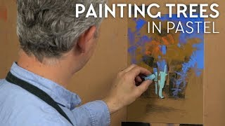 Download Painting Trees In Pastel Video